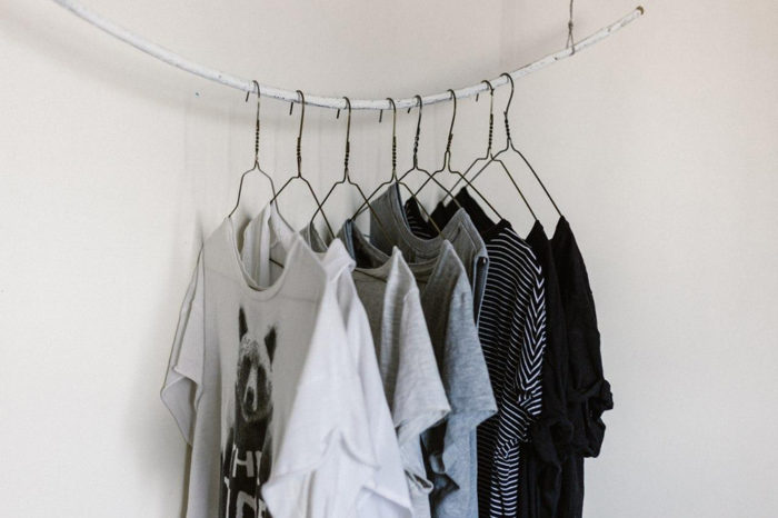 Apartment Moving Tip: Create your own storage by making an external closet.