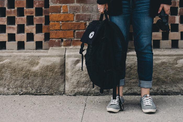 student going to her summer internship