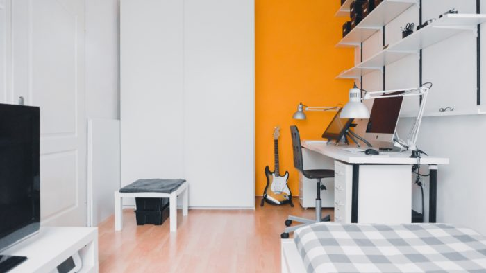 Home office space to help with keeping your routine