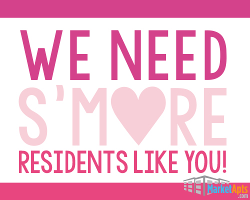 Show your residents appreciation with this cute label