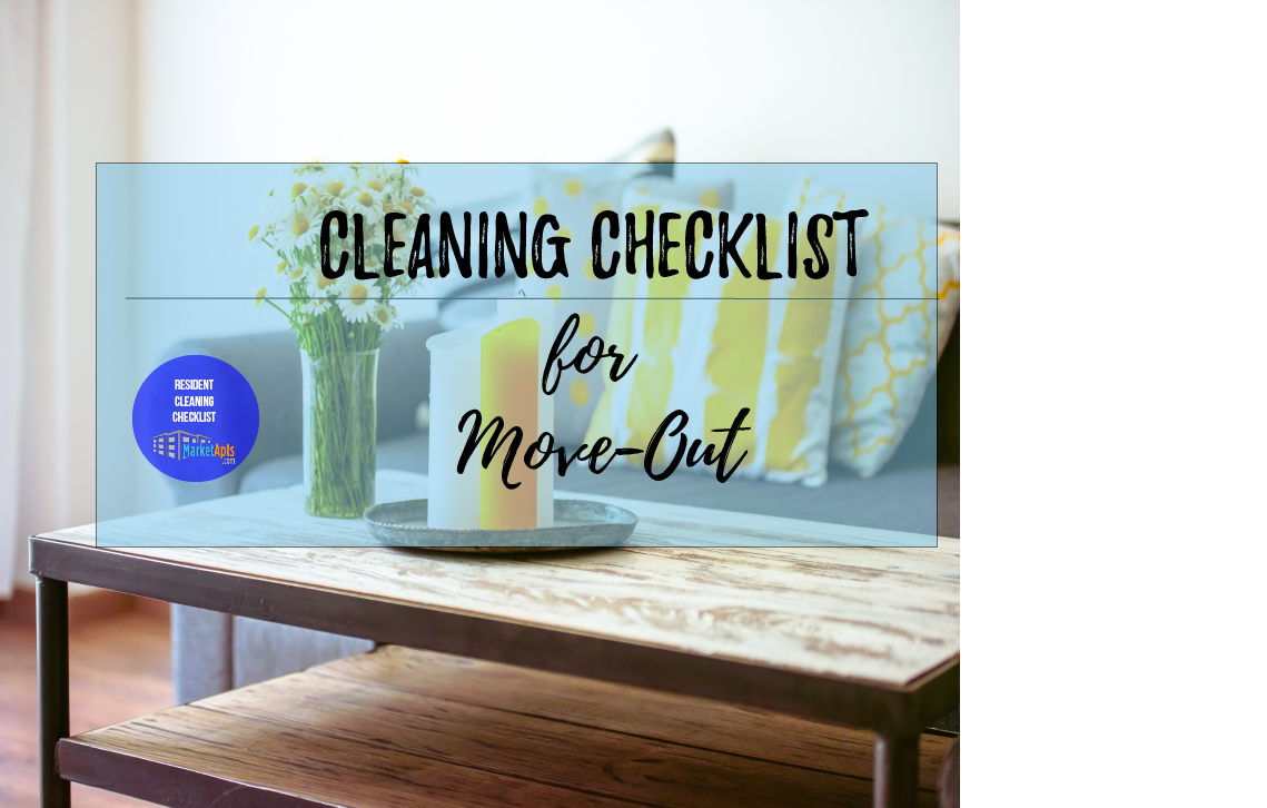 Cleaning Checklist for Apartment Move-Out : Market ...