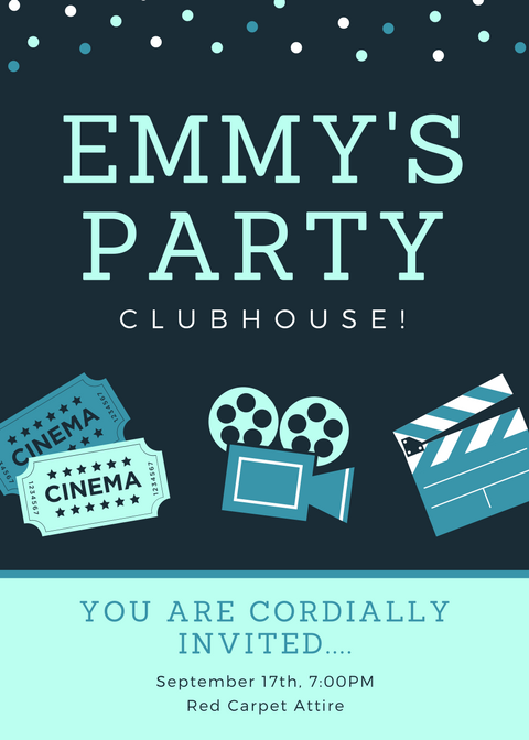 Invite to Emmy's Party for Residents