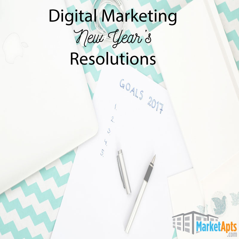 Digital Marketing New Year's Resolutions for Apartments