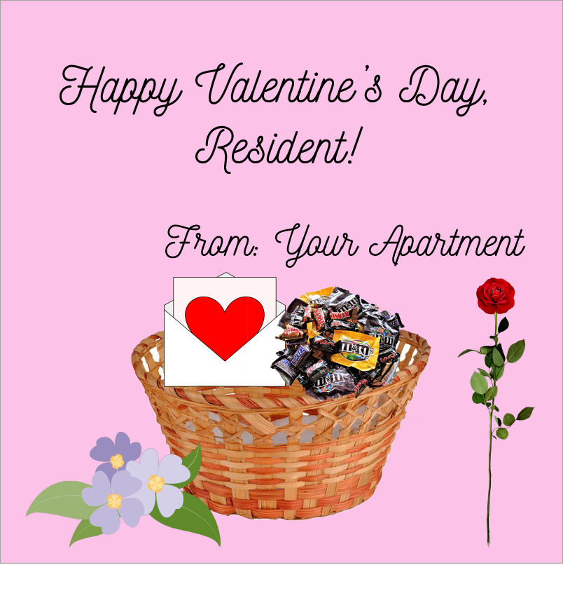 Apartment Valentines Day!