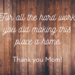 Mother's Day cards for residents