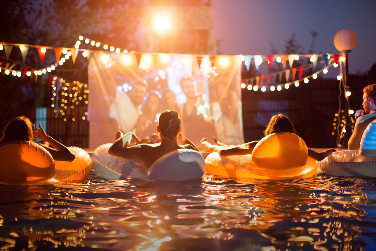 """Resident retention idea: apartment pool night with a """"dive-in movie"""" night!"""