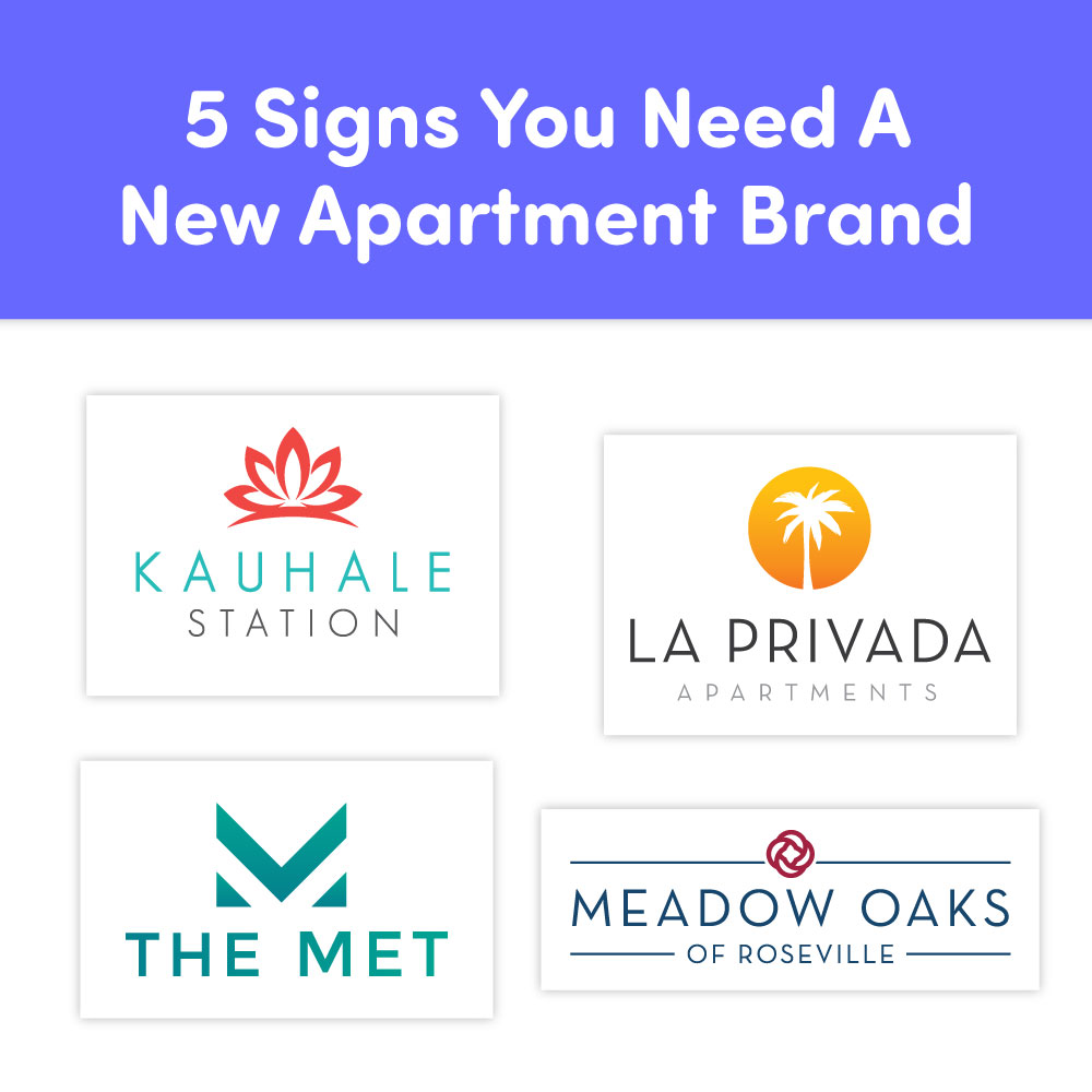 Four apartment logos.