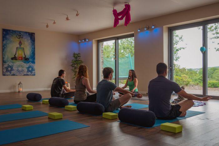 Yoga Class-luxury apartment living.