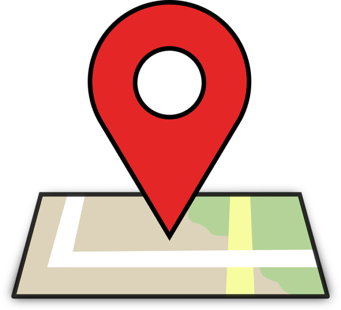 Location on a map.