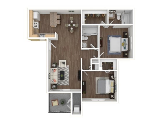 3D rendering apartment