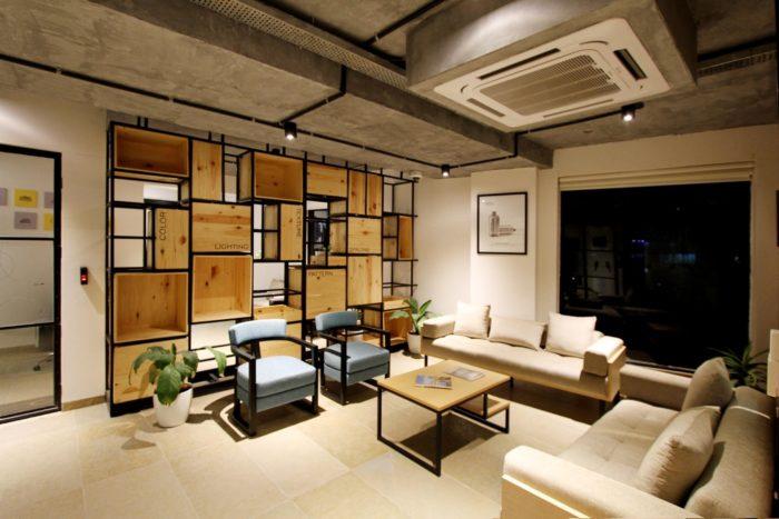 Neutral toned furniture.