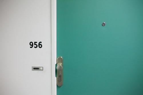 Front door of an apartment.