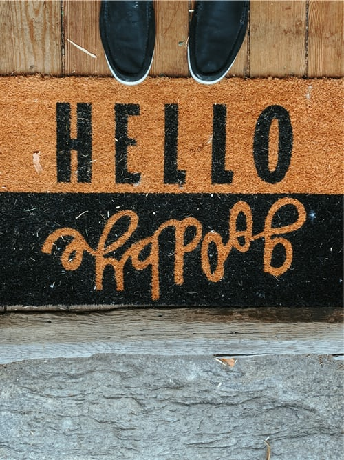 image of a welcome mat