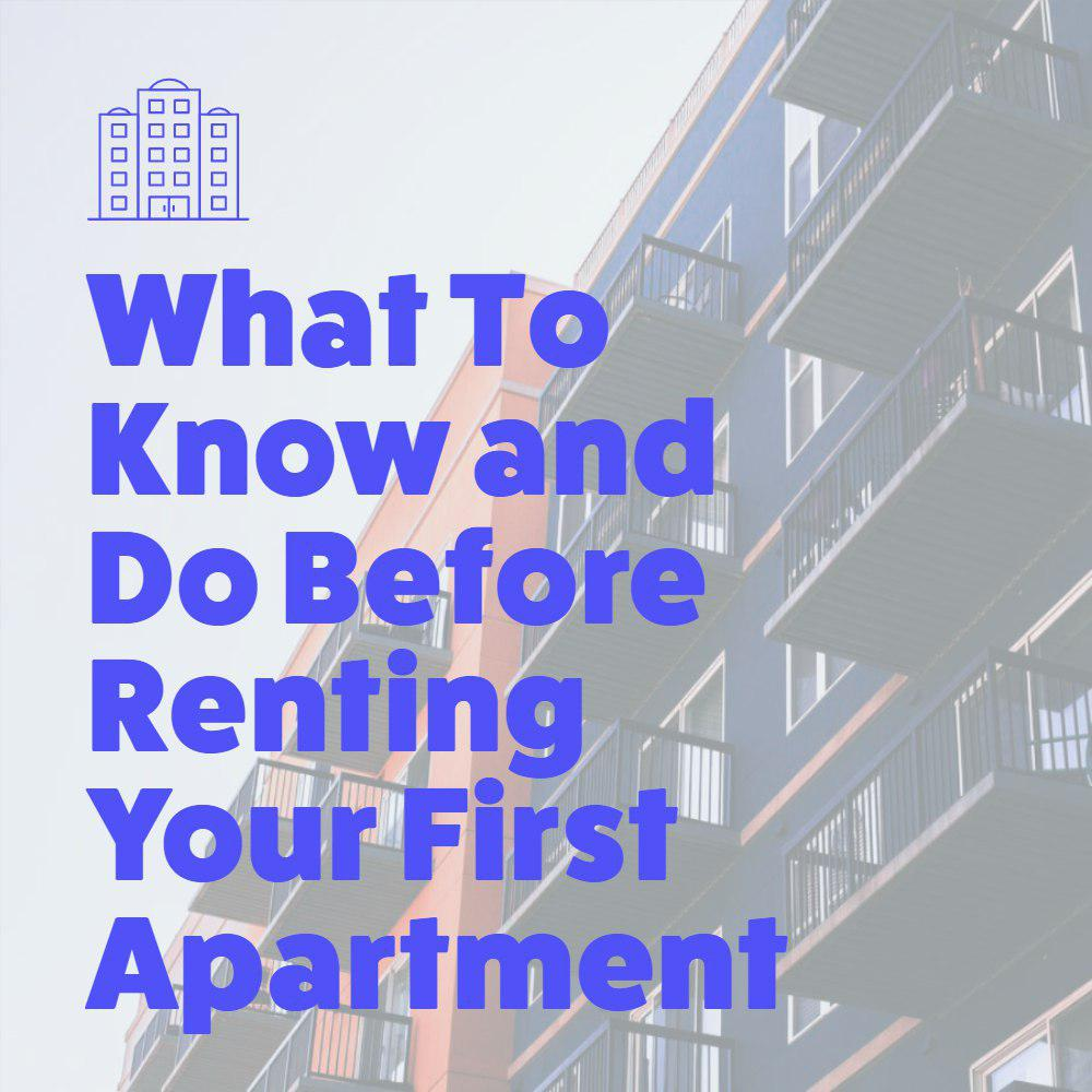 renting your first apartment graphic
