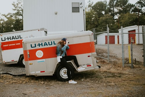 image of a uhaul truck to represent moving.