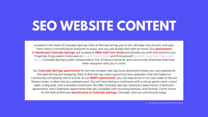 SEO Website Content | Apartment Digital Marketing