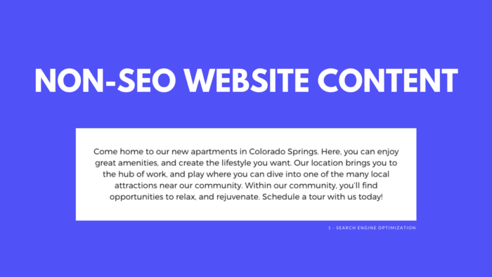 Non-SEO Website Content | Apartment Digital Marketing