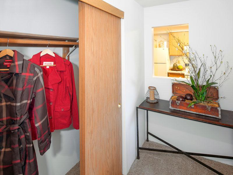 Reflections at Happy Valley Apartments: Bedroom Closet Overview