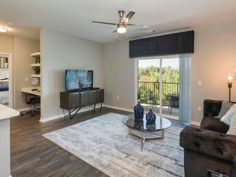 Living Room | Peaks at Woodmen Apartments in Colorado Springs