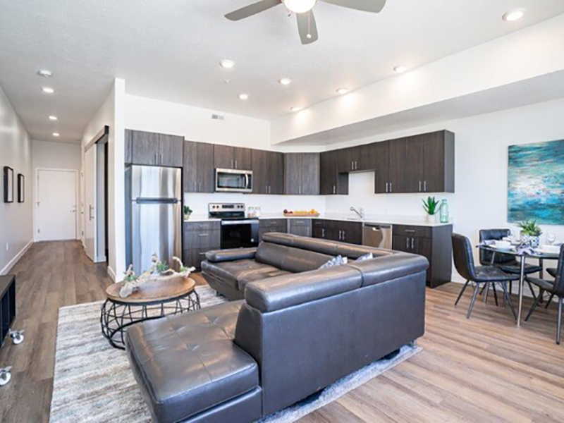 Living Room   Lofts at Reed