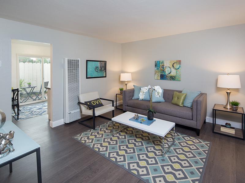 Living Room | Greenleaf Apartments in Hayward, CA