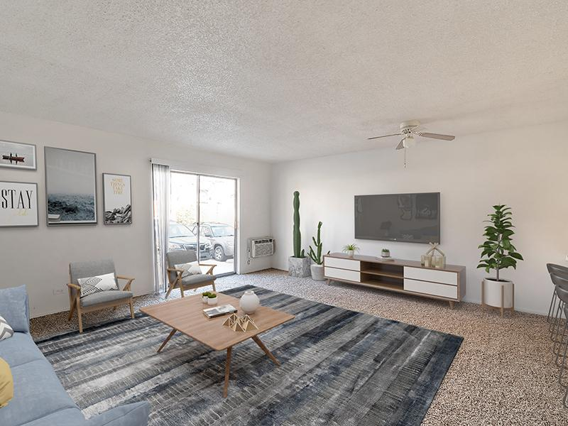 Model Front Room | Falcon Run Apartments