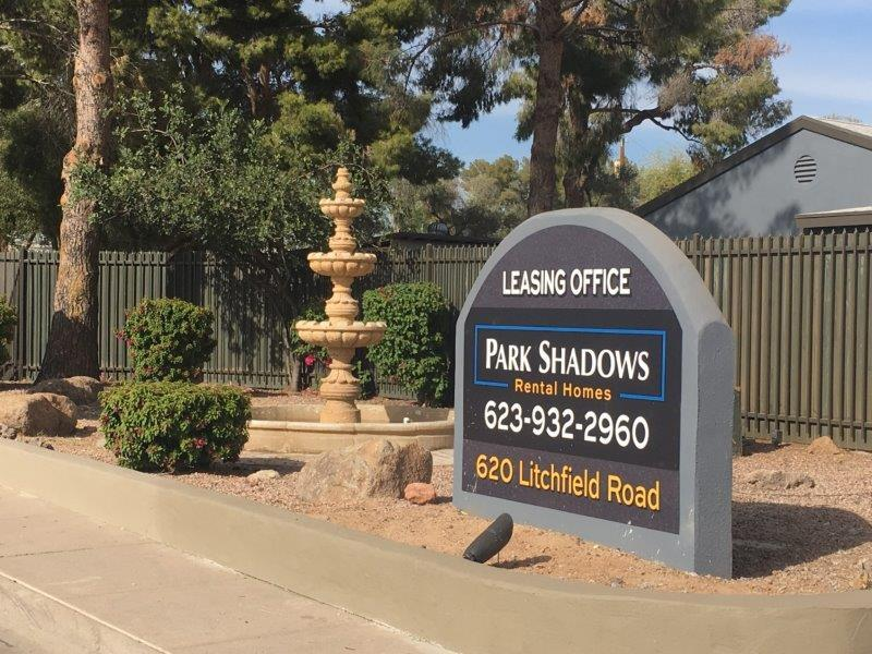 Welcome Sign | Park Shadows