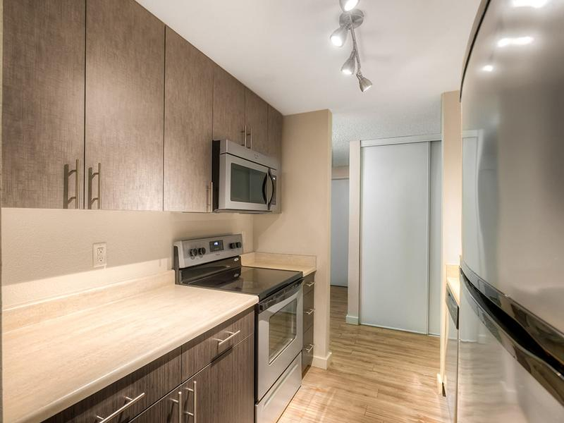 Fully Equipped Kitchen | Karbon Apartments in Newcastle, WA