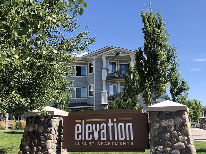 Welcome Sign | Elevation Luxury Apartments