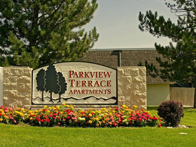 Welcome Sign | Parkview Terrace Apartments in Thornton, CO