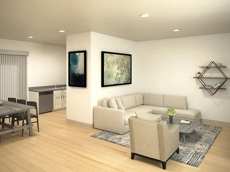 Living Room | South Parc Apartments