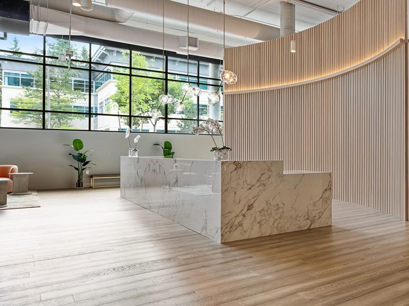 Lobby Desk | Nightingale Apartments in Redmond, WA