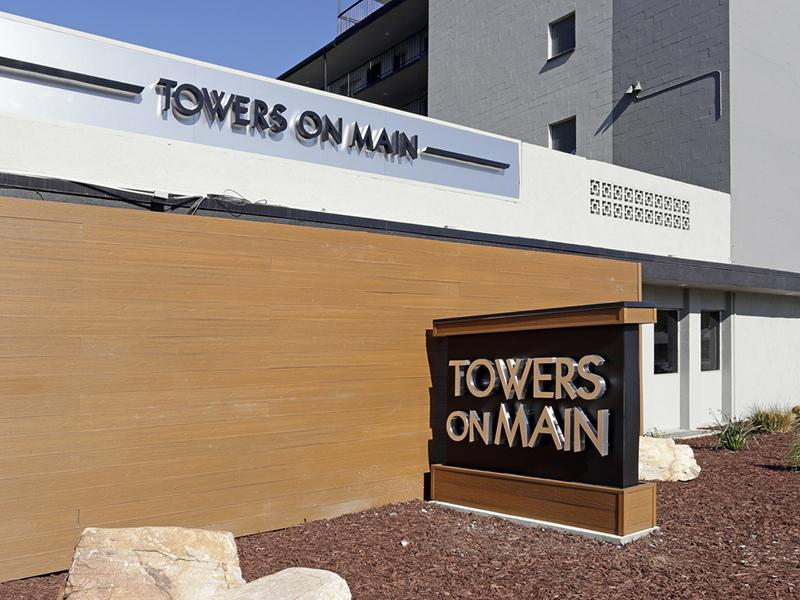 Welcome Sign | Towers on Main