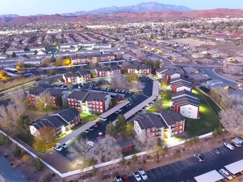 Night Aerial View | Canyon Pointe in St. George