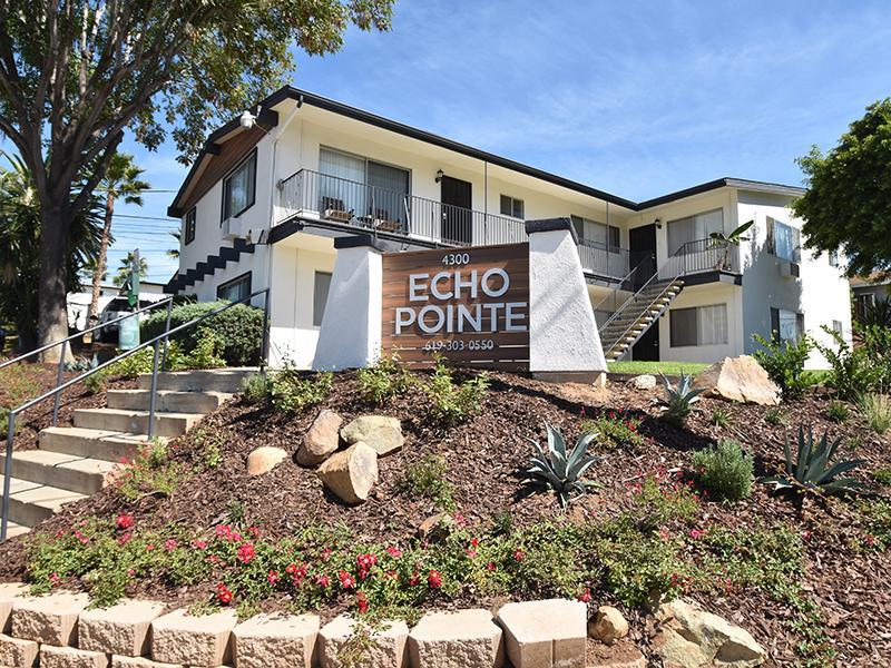 Monument Sign | Echo Point Apartments in La Mesa, CA