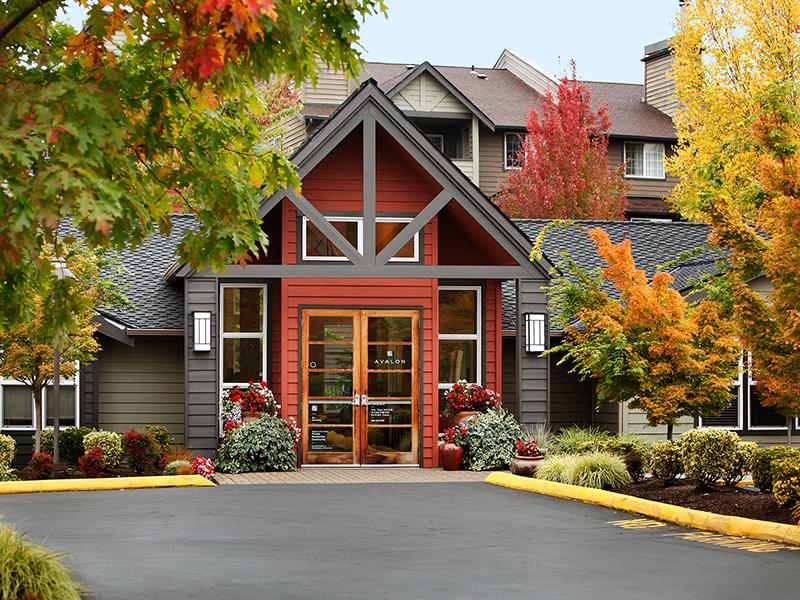 Leasing Office Exterior   Redmond Place Apartments in Redmond, WA