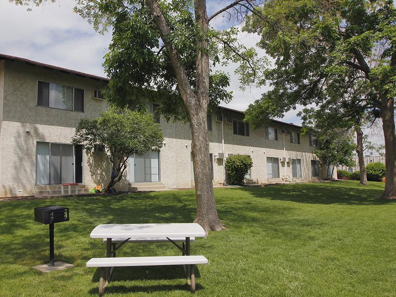 BBQ & Picnic Area | Riviera Apartments in Northglenn, CO
