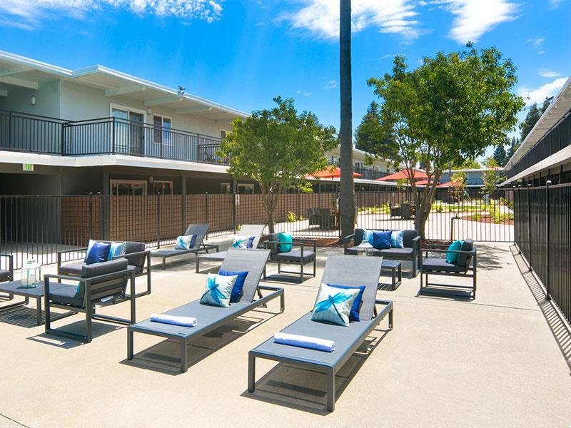 Aloha Apartments in Hayward | Pool Lounge