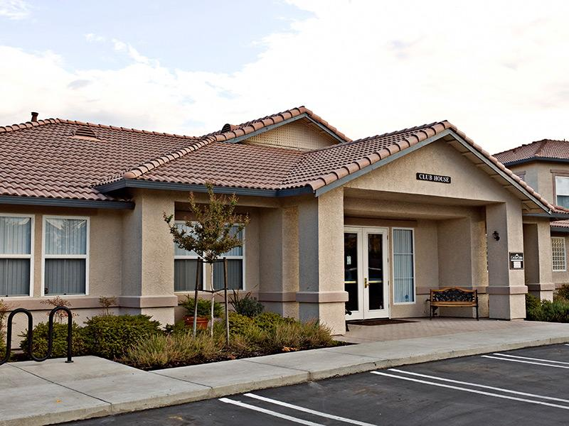 Clubhouse Exterior | Crocker Oaks Apartments in Roseville, CA