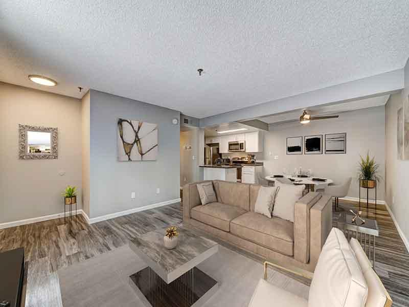 Living Room | Parkside Commons Apartments in San Leandro, CA