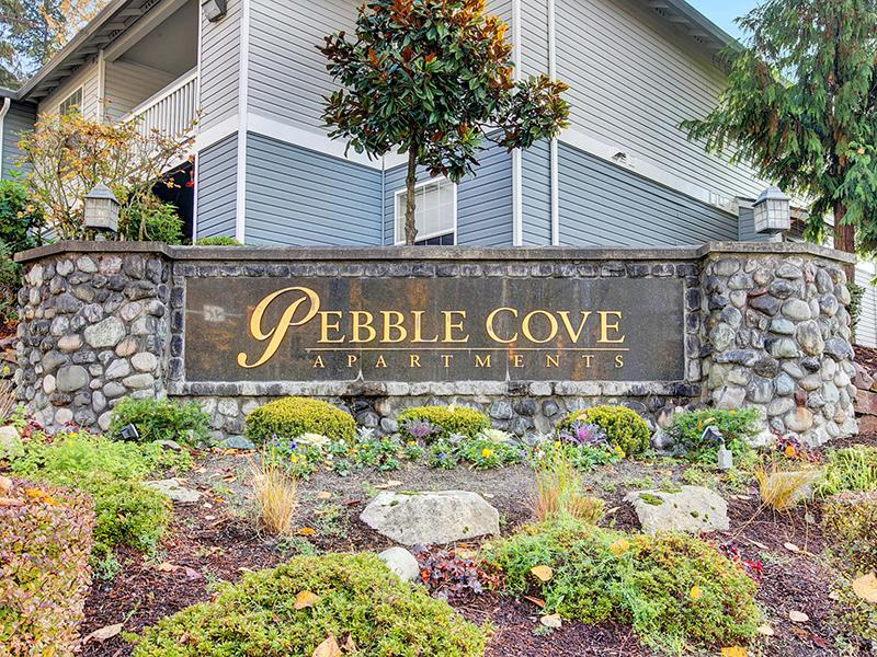 Welcome Sign   Pebble Cove Apartments