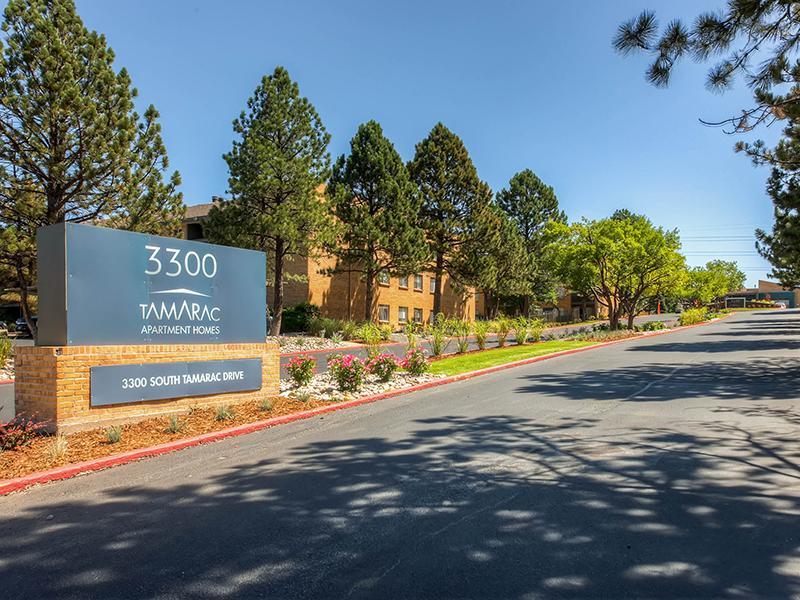 Welcome Sign | Tamarac Village Denver Apartments