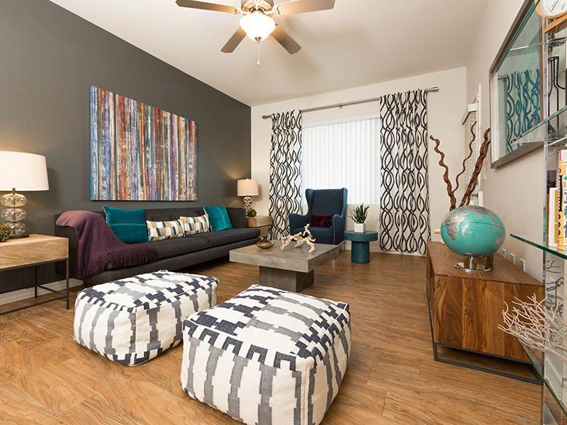 Living Room | Cornerstone Park 89074 Apartments