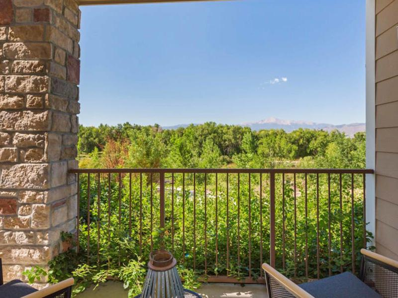 Balcony View   Peaks at Woodmen Apartments in Colorado Springs, CO