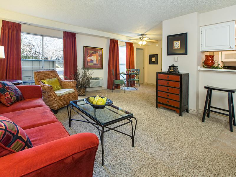 Living Room   25 Broadmoor Apartments in Colorado Springs, CO