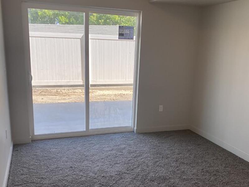 Sliding Door | Millcreek Cove Apartments`