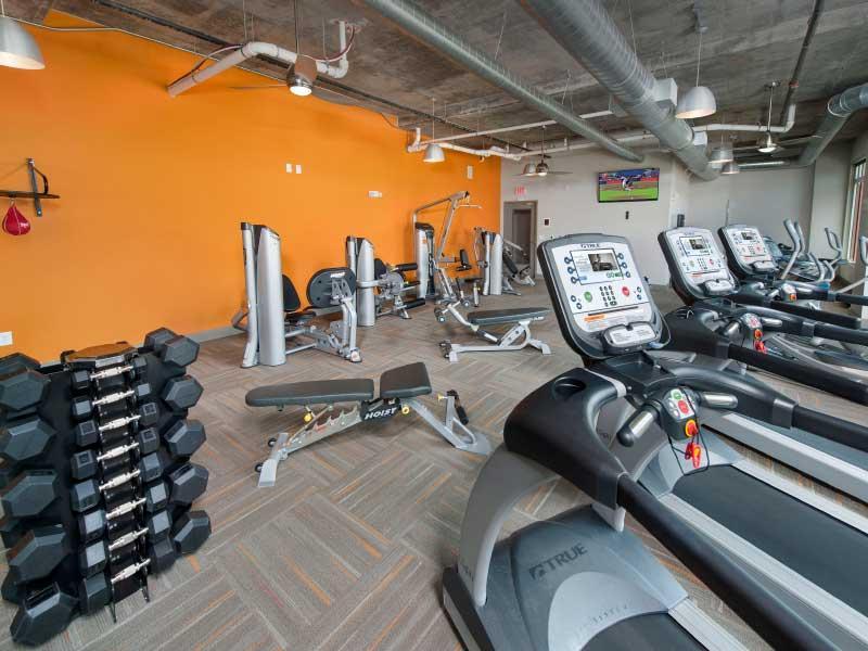 Fitness Center | 400 Rhett Apartments