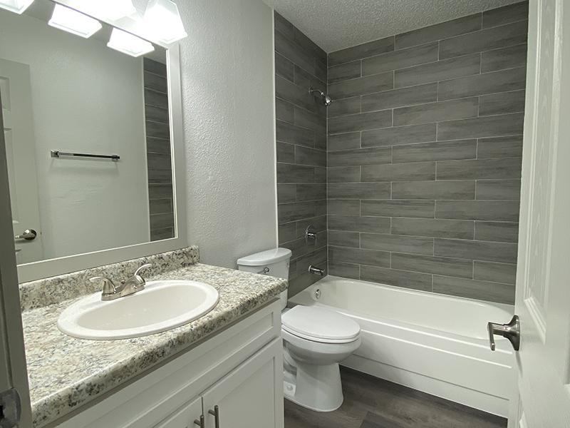 Bathroom 2 | SkyVue Apartments in San Antonio, TX