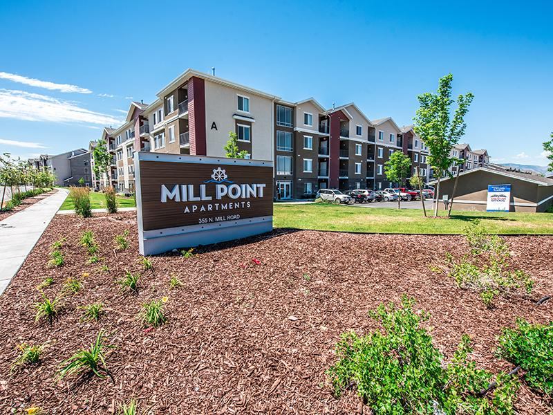 Exterior Welcome Sign | Mill Point Apartments In Vineyard UT