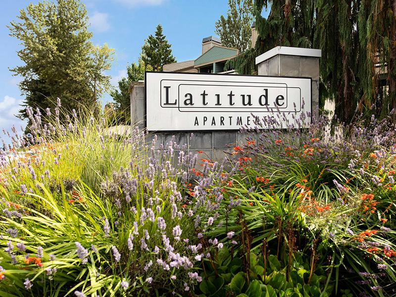 Welcome Sign  | Latitude Apartments